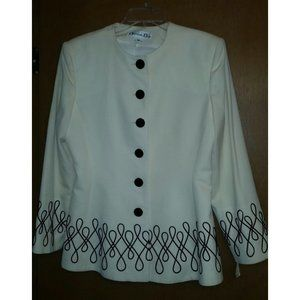 Vintage Christian Dior Ivory Jacket w/Embroidery